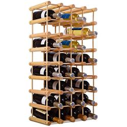 COSTWAY Weinregal Flaschenregal Weinschrank Weinflaschenhalter, 40 Flaschen natur 24 cm x 85 cm x 44 cm