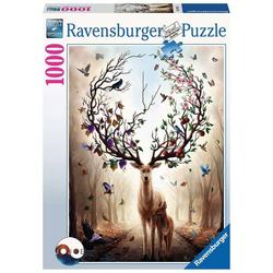 Ravensburger Puzzle 15018 Magischer Hirsch 1000 Teile Puzzle, Puzzleteile
