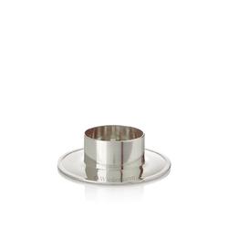 Taufkerzenhalter aus Alu Silber poliert für Ø 50 mm Taufkerzen