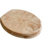 ADOB WC-Sitz Marmor, extrem stabil mit Edelstahlscharnieren beige
