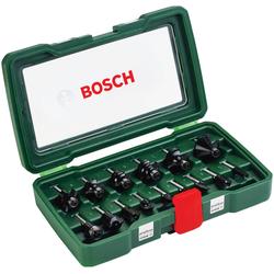 """BOSCH Fräser-Set , 15-tlg., 1/4"""" mm Schaft grün"""