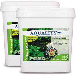 AQUALITY Gartenteich 3in1 Fadenalgen-Minus (Wirkt sicher und gezielt - Fadenalgenvernichter, Algenmittel, Algenentferner mit Sofortwirkung), Inhalt:10 kg