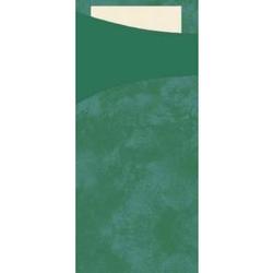 DUNI Sacchetto Serviettentaschen, Tissue, Praktische Bestecktasche, 1 Karton = 5 x 100 Stück, Farbe: jägergrün