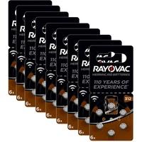 Rayovac Acoustic Zink Luft Hörgerätebatterie braun 312 60 St