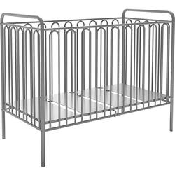 Kinderbett Vintage 150 aus Metall, silber