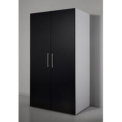 Miniküche mit Kochplatten und Kühlschrank schwarz