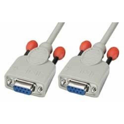 Lindy 31577 Nullmodem-Kabel 9 pol. Kupplung/Kupplung 3m