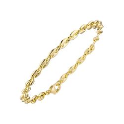 JOBO Goldarmband Kaffeebohne, 585 Gold 21 cm