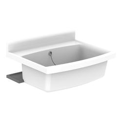 Sanit Maxi Becken mit Überlauf, 70 x 50 cm, 33 l… weiß-alpin