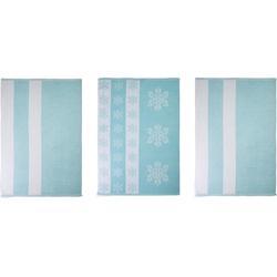 stuco Geschirrtuch Eiskristall (Set, 9-tlg.) blau Aufbewahrung Küchenhelfer Haushaltswaren Geschirrtücher