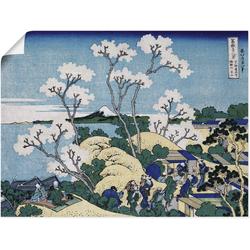 Wandbild »Fuji von Gotenyama in Shinagawa«, Bilder, 41264565-0 blau 80x60 cm blau