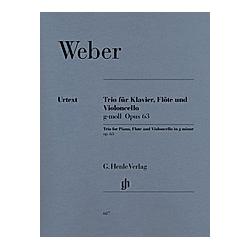 Klaviertrio g-Moll op.63  Klavier  Flöte und Violoncello. Carl Maria von - Trio g-moll op. 63 für Klavier  Flöte und Violoncello Weber  - Buch