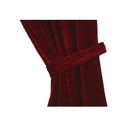 Raffhalter Thermo-Chenille 288g/m², Wirth, Gardinen, (2-tlg) rot 60 cm x 6 cm