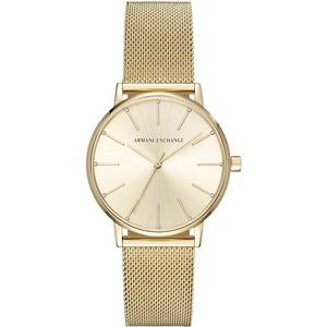 Armani Exchange Damen Analog Quarz Uhr mit Edelstahl Armband AX5536