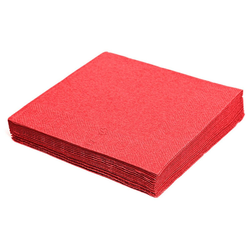 Servietten 24 x 24 cm 1/4 -Falz, 2-lagig rot, 250 Stk.