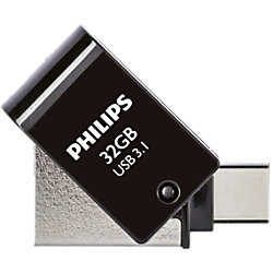 Philips USB 3.1-USB-Stick 2-in-1 32 GB Silber