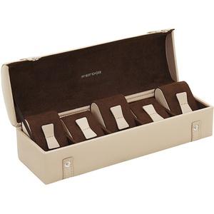 Friedrich|23  Cordoba Uhrenkoffer aus Leder für 5 Uhren Etui-Look - Beige