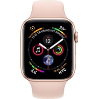 Apple Watch Series 4 (GPS + Cellular) 44mm Aluminiumgehäuse gold mit Sportarmband sandrosa