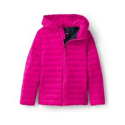 Steppjacke mit Kapuze und Packfach THERMOPLUME, Kids, Größe: 152/164 Kind, Pink, Polyester, by Lands' End, Fuchsien Pink - 152/164 - Fuchsien Pink