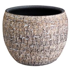 Dehner Blumentopf Lana, Ø 35/39 cm, Höhe 30/33 cm, Keramik, braun Ø 35 cm x 30 cm