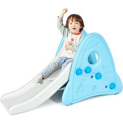 COSTWAY Rutsche Kinder Rutsche, ür Kinder ab 6 Monaten, Gartenrutsche Kunststoff, Rutschbahn Kleinkinderrutsche für Indoor & Outdoor blau