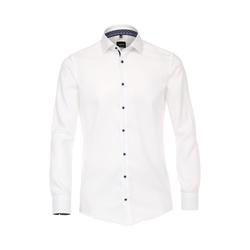 Hemd uni Modern Fit Venti Weiß