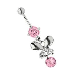 Adelia´s Bauchnabelpiercing Bauchnabelpiercing, Titan Piercing Schmetterling mit Steinen und Zirkonia