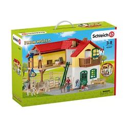 Schleich® Farm World 42407 Bauernhaus mit Stall und Tieren Set