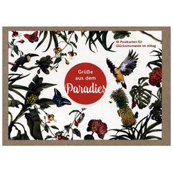 Grüße aus dem Paradies - Postkartenbox