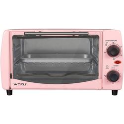 Woltu Minibackofen, Mini Backofen 12 Liter, 800 Watt Toasterofen mit Timer rosa