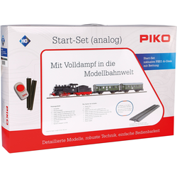PIKO Modelleisenbahn Startpaket Dampflok mit Personenzug, (57112) bunt Kinder Loks Wägen Modelleisenbahnen Autos, Eisenbahn Modellbau