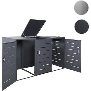 XL 3er-/6er-Mülltonnenverkleidung HWC-E83, Mülltonnenbox Mülltonnenabdeckung, erweiterbar 108x66x94c