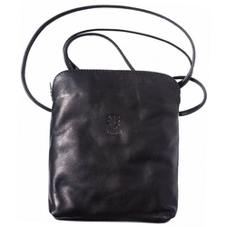 FLORENCE Umhängetasche D2OTF113S Florence Echtleder Damen Handtasche, Damen, Jugend Tasche aus Echtleder in schwarz, Made-In Italy