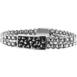 Police Jewelry BATTLEFIELD PJ25698BSS.01 Unisex Armband Massiv gearbeitet, Armbandumfang: Gr. L. Armbandumfang 210mm