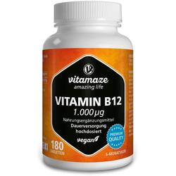 VITAMIN B12 1.000 µg hochdosiert vegan Tabletten 180 St.