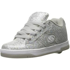 Heelys Split Sneaker für Jungen, Schwarz/Weiß, 4 Medium US Big Kid, Silber,EU 36,5