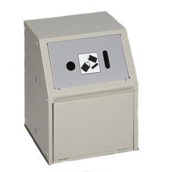 VAR Wertstoffsammler Typ WSG Batterie, für eine sichere Batterieentsorgung, Einwurfklappe: silber