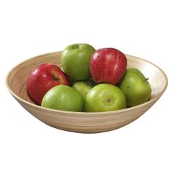 Kesper Obst- und Gebäckschale Bambus, Eignet sich ideal zum Servieren von Obst oder Süßigkeiten, Maße (H x B x T): 9 x 30 x 30 mm, hell