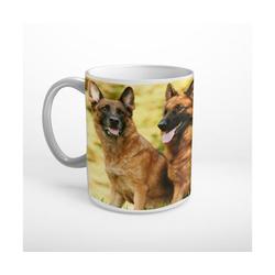 DesFoli Tasse Schäferhund Hunde Tiere T0430, Keramik