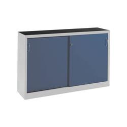 CP Schiebetürenschrank Mehrzweckschrank, komplett montiert blau 160 cm x 100 cm x 50 cm
