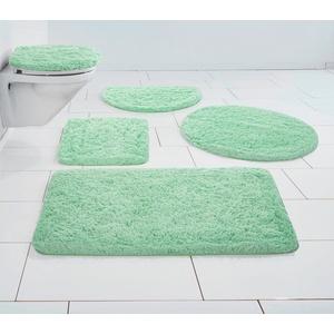 Badematte Micro exclusiv Guido Maria Kretschmer Home&Living, Höhe 55 mm, strapazierfähig, democratichome Edition grün rund - Ø 80 cm x 55 mm