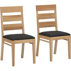 Home affaire Essgruppe Nils 2 (Set, 5-tlg Tisch 140/90 cm, 4 Stühle, Polstersitz) beige Essgruppen Tische Sitzmöbel-Sets