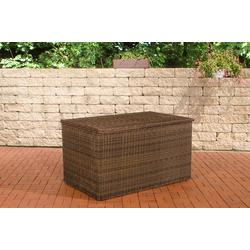 CLP Auflagenbox Auflagenbox 5mm, Gartentruhe für Kissen und Auflagen braun