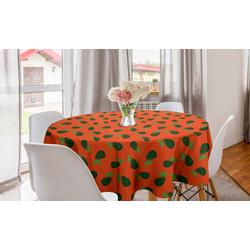 Abakuhaus Tischdecke Kreis Tischdecke Abdeckung für Esszimmer Küche Dekoration, Avocado Comic-Art-Avocados