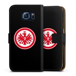 DeinDesign Handyhülle Eintracht Frankfurt schwarz Samsung Galaxy S6, Hülle Eintracht Frankfurt SGE Adler schwarz