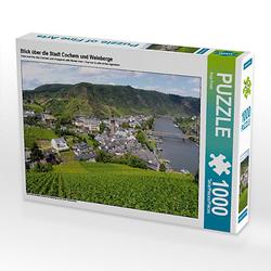 Blick über die Stadt Cochem und Weinberge Lege-Größe 64 x 48 cm Foto-Puzzle Bild von Anja Frost Puzzle