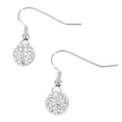 Miabelle Elegante Diamantohrringe mit Rhodium-Legierung