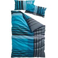 Biber blau 135 x 200 cm + 40 x 80 cm