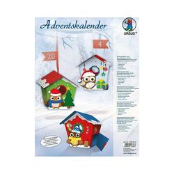 URSUS Wandkalender Blanko-Adventskalender Eule