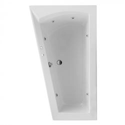 Ottofond Raumspar Badewanne Galia I Iinks mit Whirlpoolsystem VIsion Weiß 160 x 100 x 51 cm